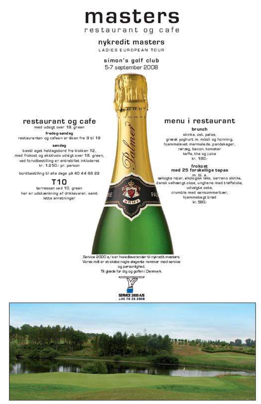 Masters Cafe & Restaurant ved Simons Golf 2008 - opslag i pdf