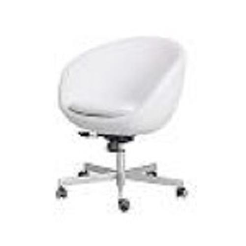 hvid læderstol